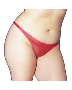 Back Tie Red Sheer Panty - OS/XL