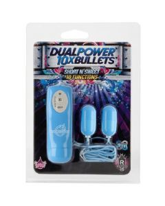 10 Function Power Dual Bullets - Short & Sweet - Blue