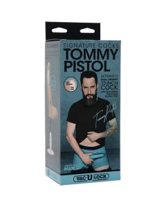 Signature Cocks Tommy Pistol 7.5 inch Dual-Density Vac-U-Lock Cock - Vanilla