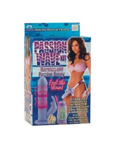 Passion Wave Kit Strap-On Kit - Lavender