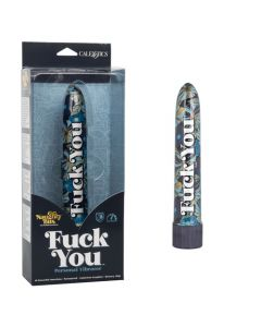 Naughty Bits 10 Function Fuck You Waterproof Vibrator - Blue