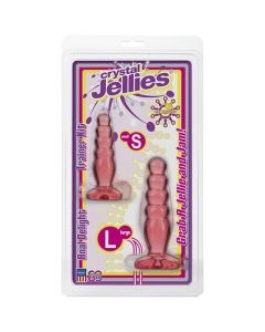 Crystal Jellies Anal Delight Trainer Kit Pink - Non Vibrating