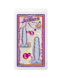 Crystal Jellies Anal Delight Trainer Kit Clear - Non Vibrating