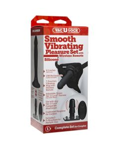 Vac-U-Lock - Smooth Vibrating Pleasure Set - Silicone - Black