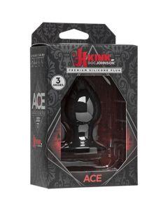 Kink - 3 inch Ace - Silicone Plug - Black