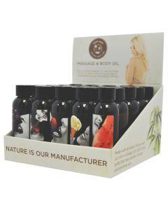 Edible Massage Oil 2 OZ EA - 25 PC 5 Flavors -MSE200