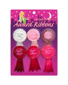 Bride-to-be's Award Ribbons ( 6 on card)