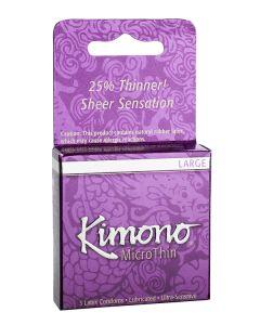 Kimono Micro Thin Large Condom - 3 pk