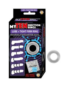 My Ten Erection Rings Lube and Firm Rings - Clear