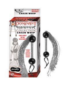 Chain Whip Dominant Submissive Collection - Silver