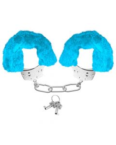 Neon Luv Touch Neon Furry Cuffs Blue