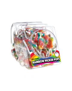 Rainbow Pecker Pops Display (72 per bowl)