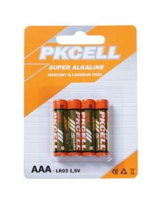 PK Cell AAA Super Alkaline Batteries 4/pk