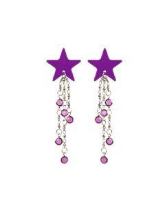 Body Charms Body Jewellery - Purple Star