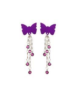 Body Charms Body Jewellery - Purple Butterfly