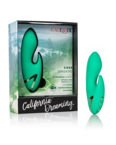 California Dreaming Sierra Sensation Rechargeable Massager - Green