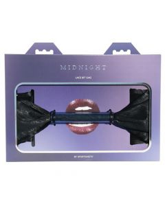 Midnight Lace Bit Gag - Black