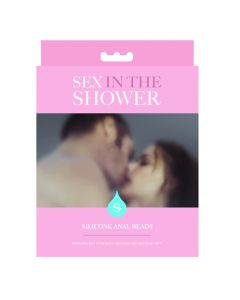 Sex In The Shower - Waterproof Silicone Anal Beads - Blue