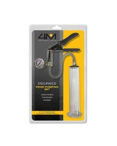 4M Endurance Penis Pumping Training Gear Set - Clear 2 inch x 9 inch
