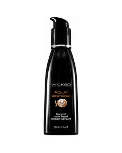 Wicked Aqua Cinnamon Bun Flavored Lube 4 oz