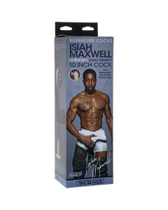 Signature Cocks Isiah Maxwell 10 inch Dual-Density Vac-U-Lock Cock - Chocolate
