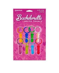 Bachelorette Party Favors - Dicky Wine Charms (8 Pc.)