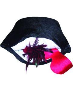 Hide Your Vibe Zipper Pillow - Black