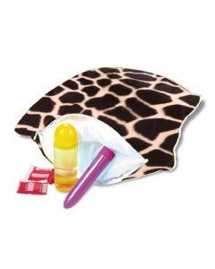 Hide Your Vibe Zipper Pillow - Giraffe