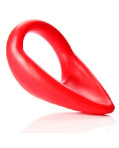 C-Sling - Silicone Non-Vibrating Cock Ring - Red