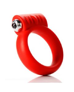 "Vibrating C-Ring 2"" - Silicone Cock Ring - Red"
