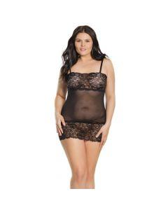 Stretch Lace Tube Dress - Black OS/XL