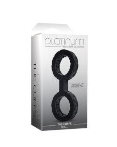 Platinum Silicone- The Cuffs - Small - Black