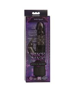 Black Magic Mystical Squirmy Dual Stimulation Vibrator - Black