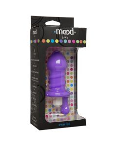 Mood - Juicy Swirled Vibrating Plug - Purple