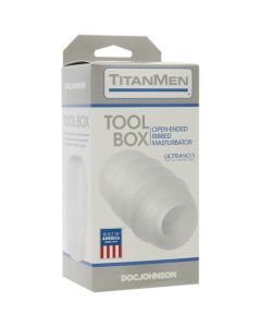 TitanMen UR3 Tool Box Non-Vibrating Masturbator - Clear