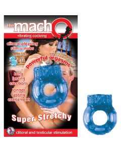 THE MACHO VIBRATING COCKRING - BLUE - NassWalk
