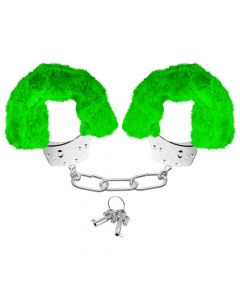Neon Luv Touch Neon Furry Cuffs Green