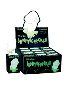 Wind Up Glow In The Dark Jumping Peckers (12/Display)