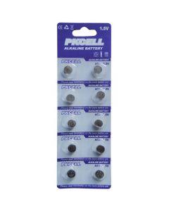 PK Cell Alkaline 1.5V LR41 Batteries 10/card
