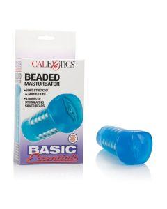 Basic Essentials - Beaded Masturbator - Non-Vibrating - Blue