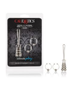 Nipple & Clitoral Non-Piercing Body Jewelry - Silver