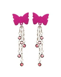 Body Charms Body Jewellery - Pink Butterfly