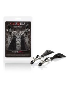 Nipple Play Clamps with Playful Tassels - Black