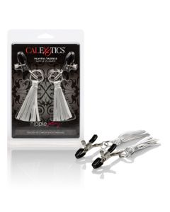 Nipple Play Clamps with Playful Tassels - Silver