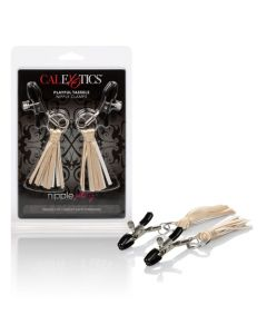 Nipple Play Clamps with Playful Tassels - Gold