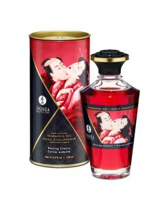 Shunga Warming Massage Oil - Cherry