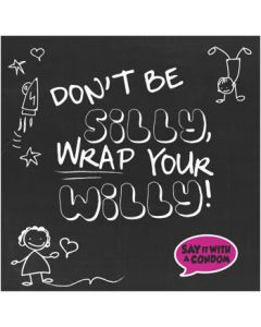 Don闁炽儲鐛 Be Silly Wrap Your Willy - Funny Condom