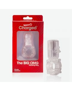 Charged Big OMG Vertical Cock Ring Screaming O - Clear