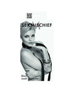 Sex & Mischief - Leash & Collar Set - Black