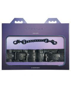 Midnight Lace Cuffs - Black